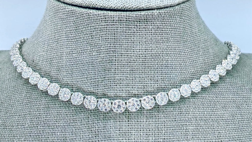 Tennis Necklace with small Cubic Zirconia stones