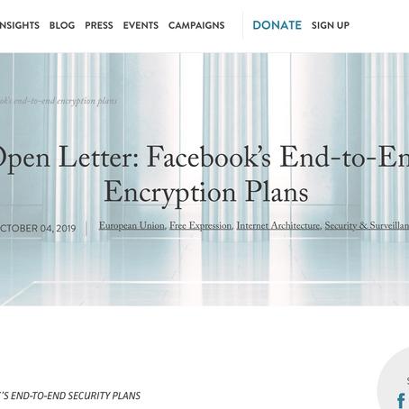 Carta abierta a Mark Zuckerberg