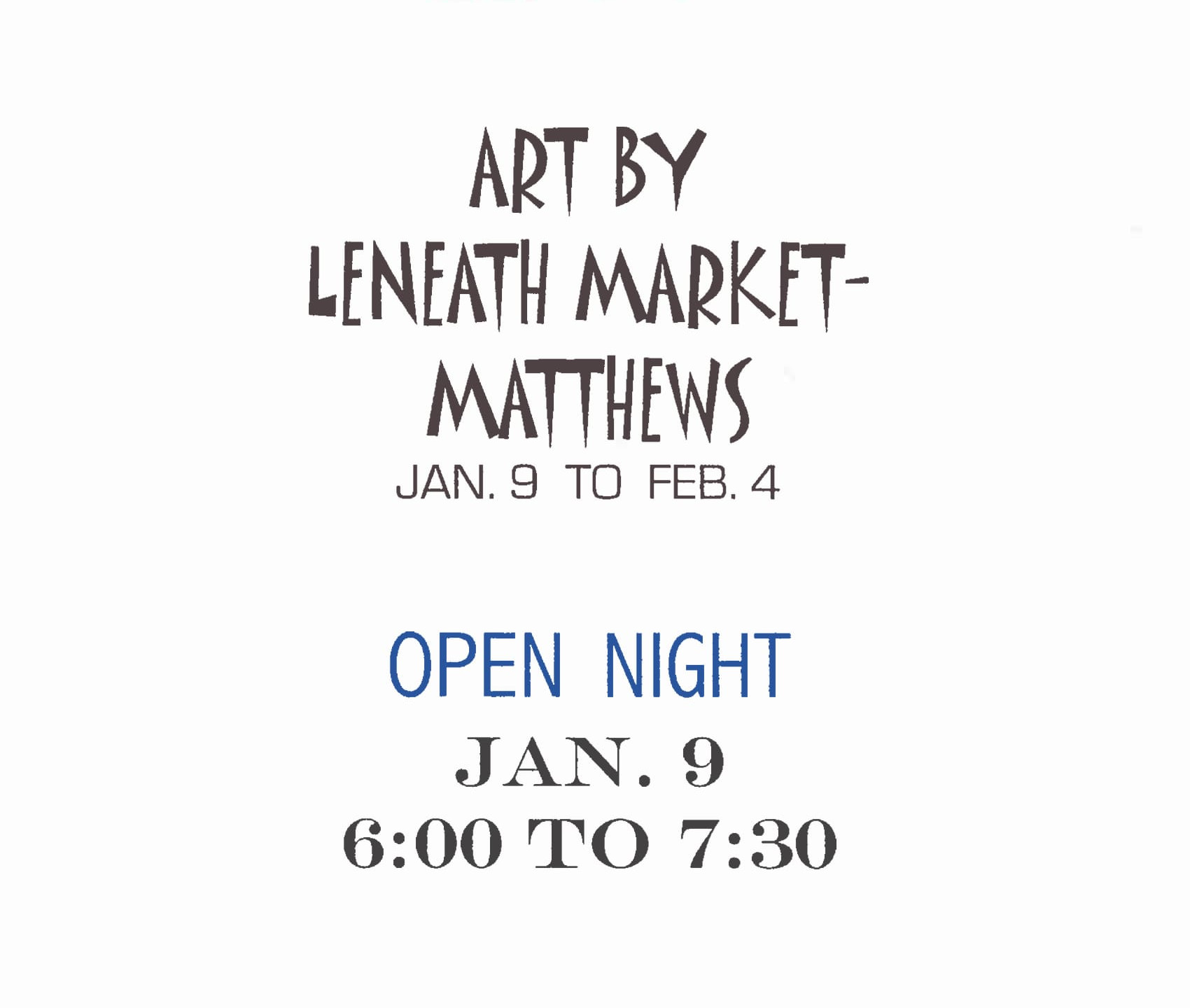 January 2006 - Leaneath Market -Matthews Poster-1
