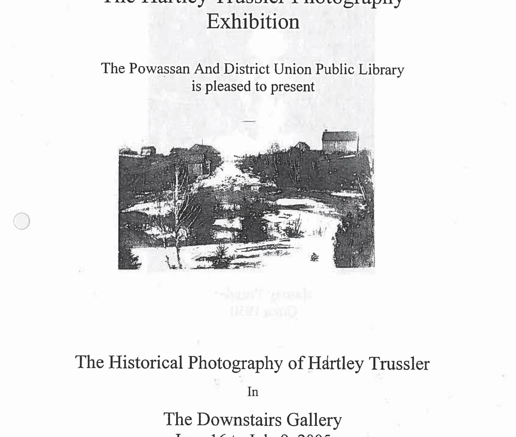 July 2005 - Hartley Trussler - Poster-1
