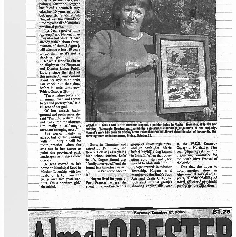 October 2005 - Suzanne Nugent - Newspaper-1