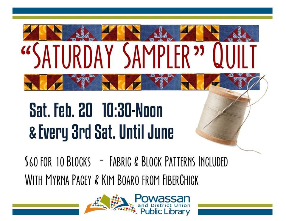 February 20, 2016 - Quilt Sampler