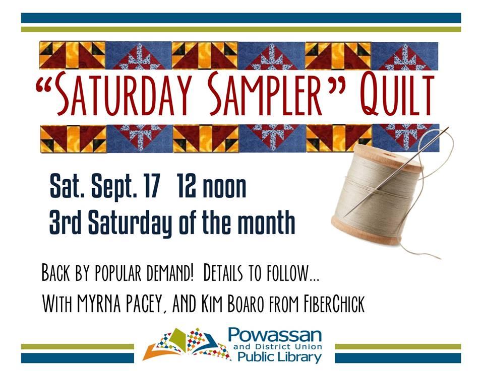September 17, 2016 - Quilt Sampler