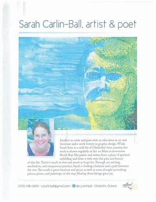 Sarah Carlin-Ball Exhibition