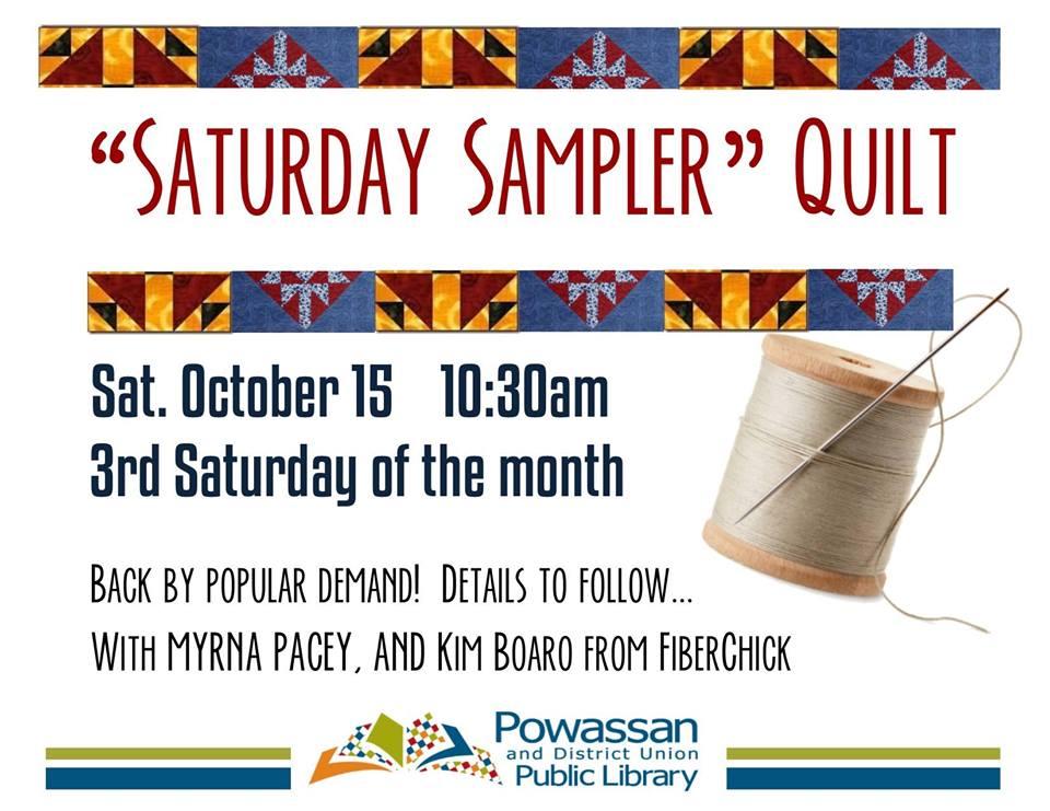 October 15, 2016 - Quilt Sampler