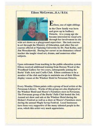 Eileen McGowan Exhibition