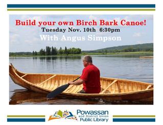 Build a Birch Bark Canoe with Angus Simpson