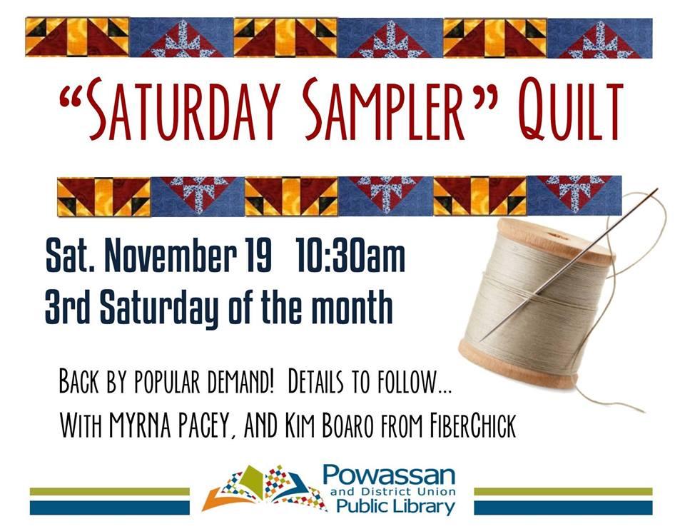 November 19, 2016 - Quilt Sampler