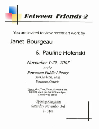 Pauline Holenski & Janet Bourgeau Exhibition