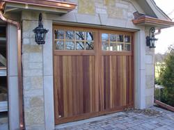 wood carriage house garage door