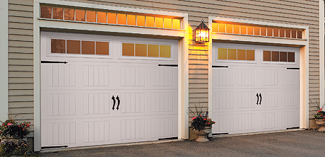 garage door with hardware