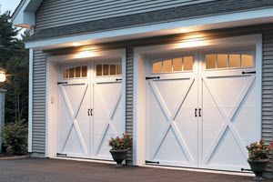 garage door courtyard