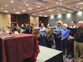 Resumen del cambio de mesa directiva de la Asociación Brangus Rojo de México.