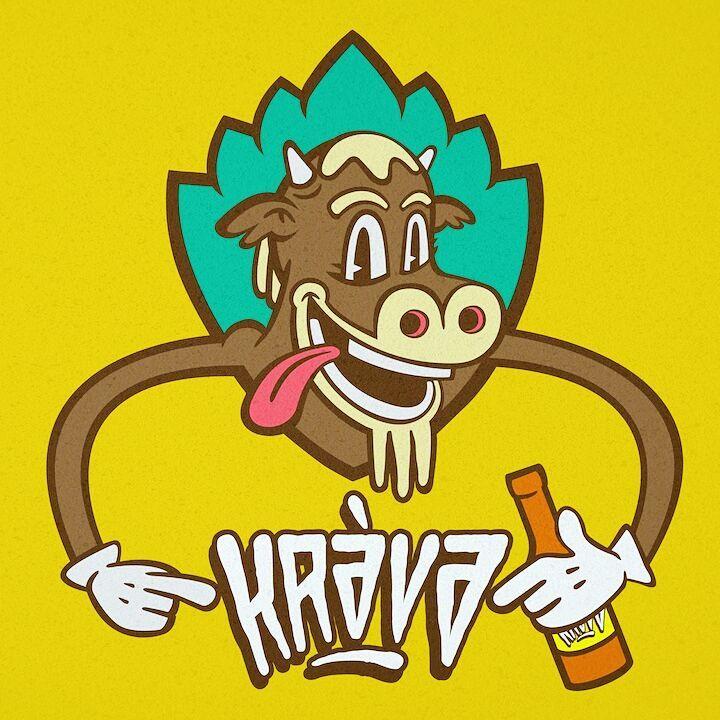 Logo for Krava Beer