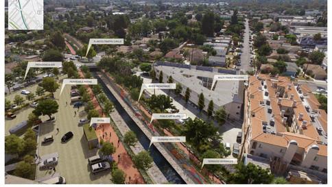Burbank Western Channel Design Area (Green Network)