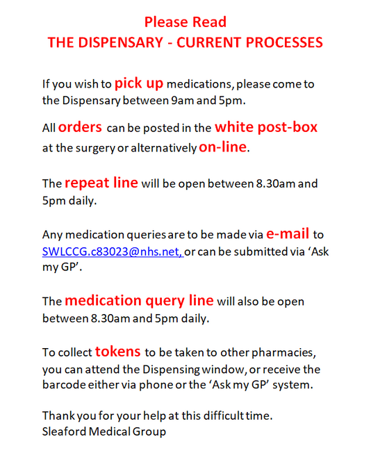 Dispensary update – 24.03