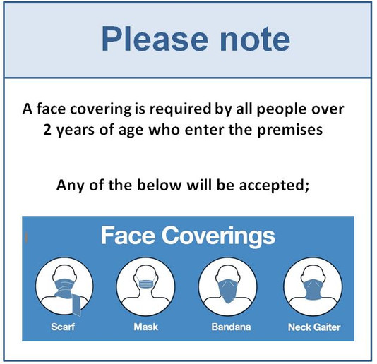 Face Coverings on the Premises