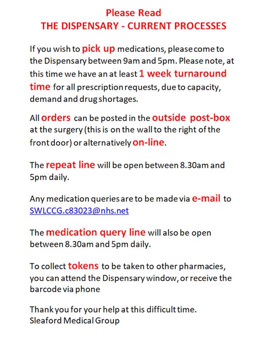Dispensary Update – 03.04