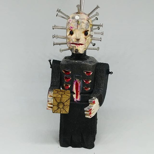 Pinhead wood.Hellraiser film.
