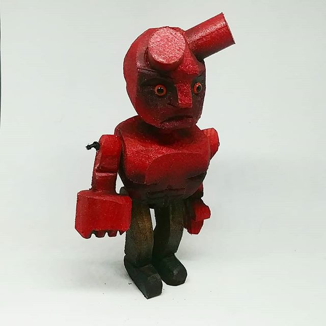 Hellboy in wood.
