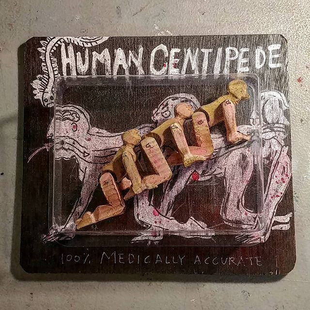Human centipede.Action figure.