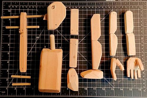 WORKSHOP: Wood kit for make a Marionette