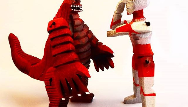 Ultraman vs Redking.