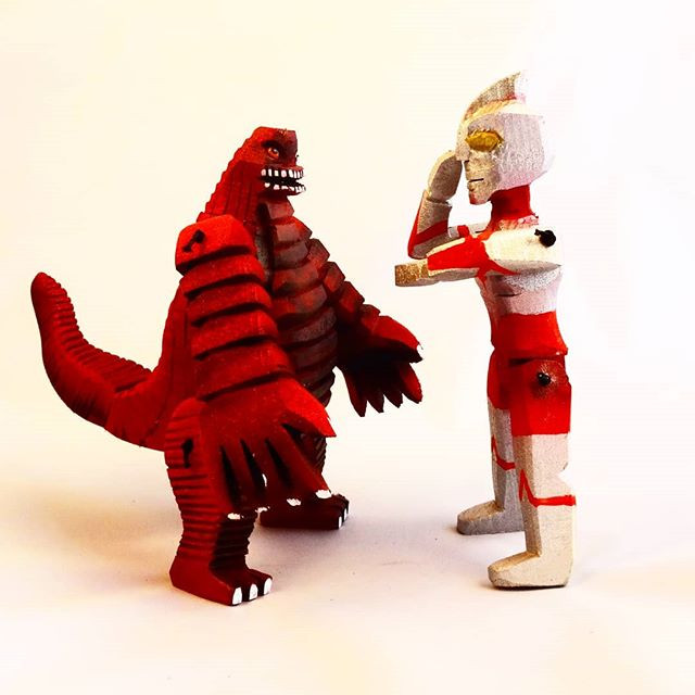 Ultraman vs Redking.