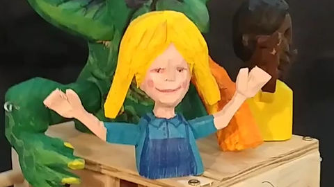 Goblin cheddar cheese Mandy automaton