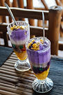 Two Halo-Halo on Top of a Table Made of
