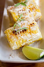 Elote or Mexican grilled corn on the cob