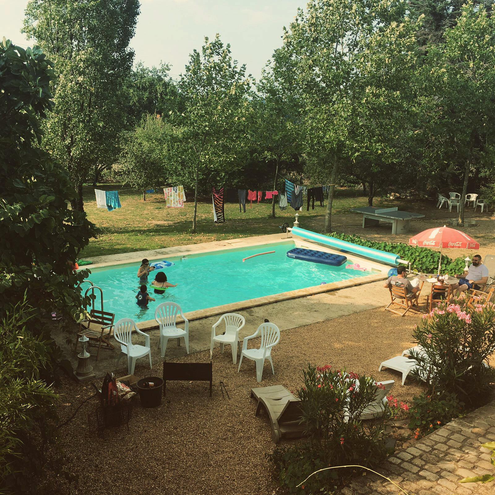 Grand Gite Pays Loire Piscine Jardin