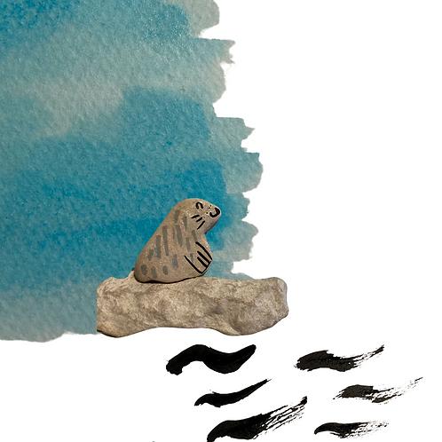 Le phoque - qui attendait le froid