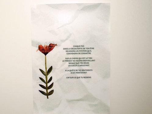 Poème créatif personnalisé - affiche A4