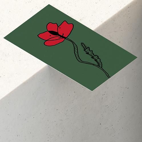 Carte coquelicot