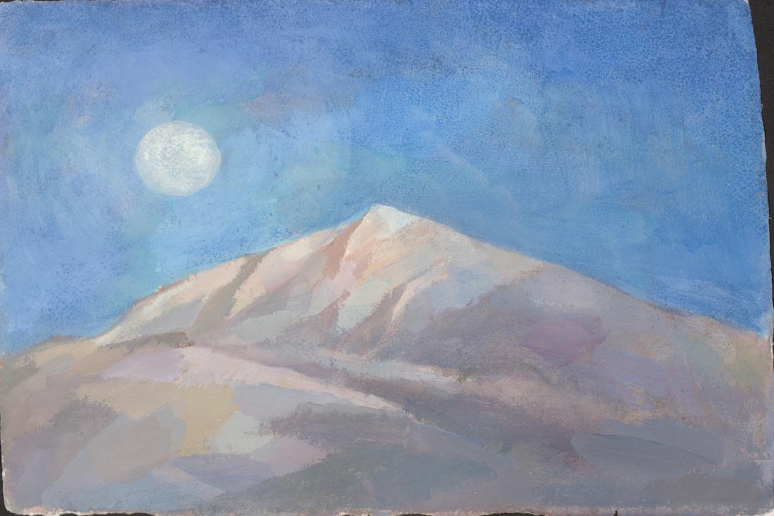 Moon over Mountain
