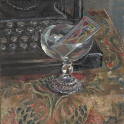 Typewriter, Glass, Card