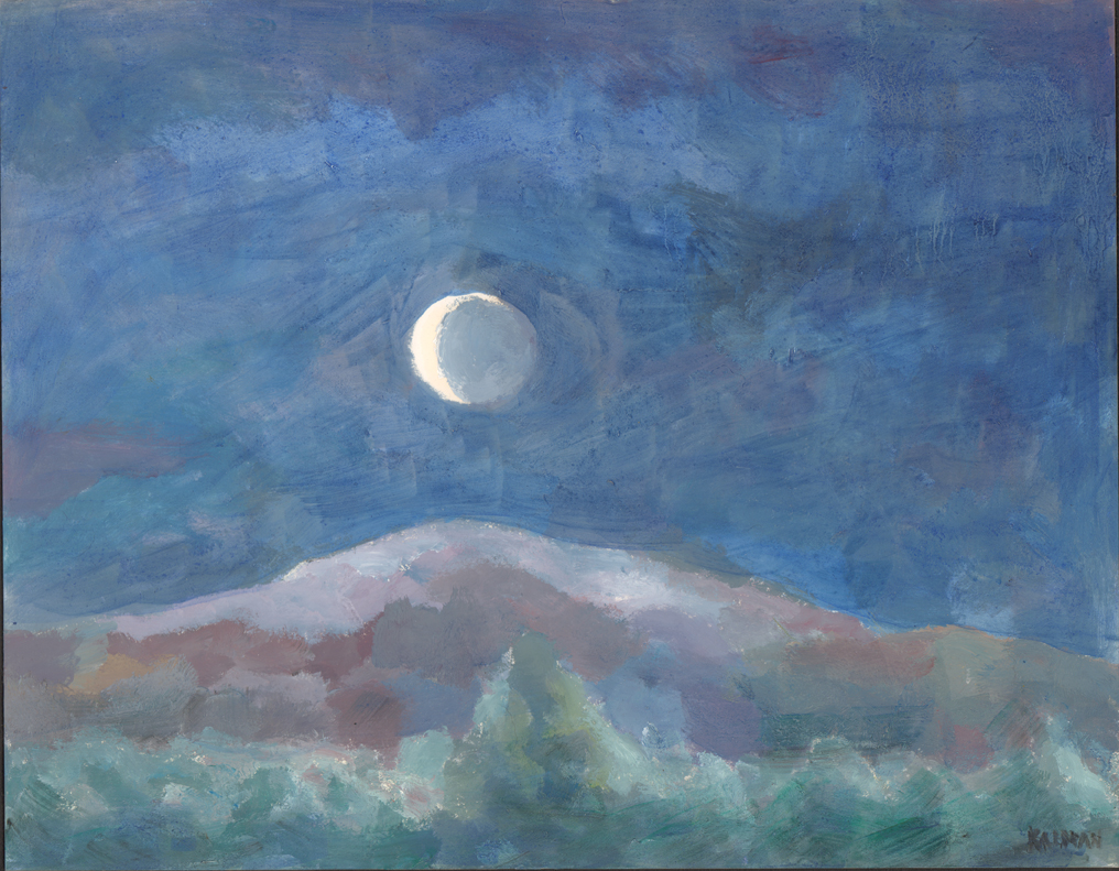 Crescent over Mountain