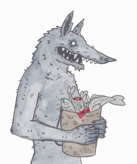 A Wulver With His Bucket