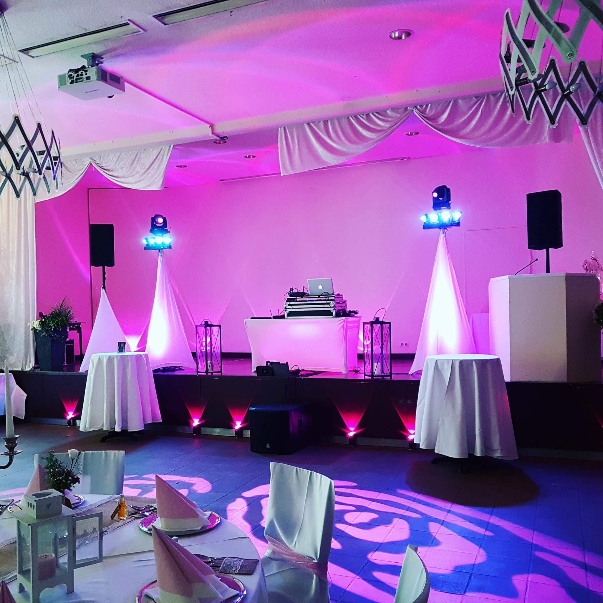 DJ Ruhrgebiet Hochzeit Bühnenaufbau