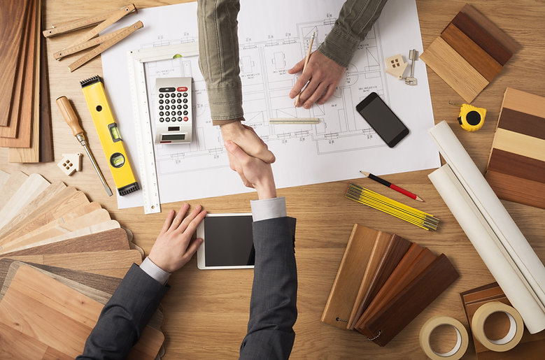 Architect and customer businessman shaki