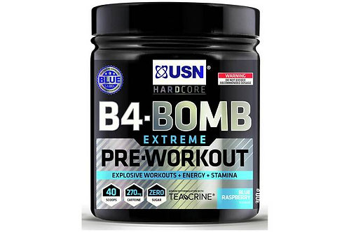 USN B4 Bomb Pre-Workout - Blue Raspberry 300g