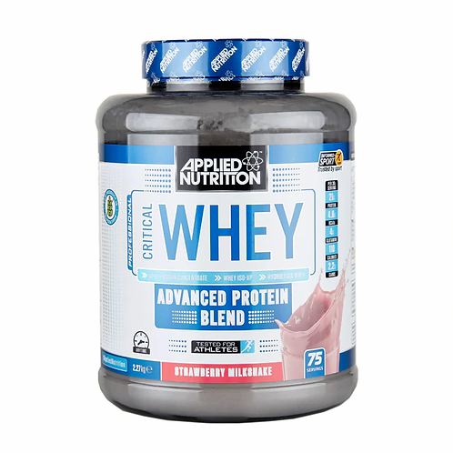 Applied Nutrition Critical Whey - Strawberry Milkshake - 2.27kg