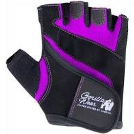 Gorilla Wear Womens Fitness Gloves - Black/Purple - Small