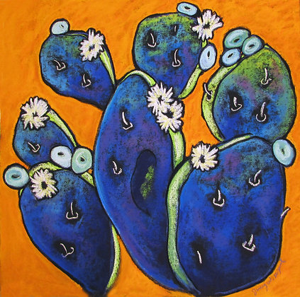 Pear Cactus in Orange