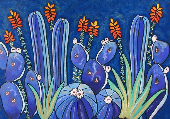 Blue Cactus Garden