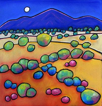 """Desert at Dusk, 16"""" x 20"""""""