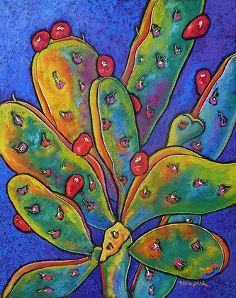 Pear Cactus in Blue