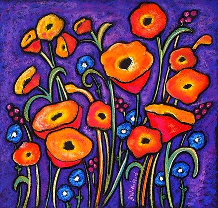 Poppies in Purple