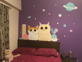 Bed Room Cats Mural